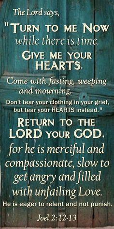 Randall - Daluz Joel 2:12-13