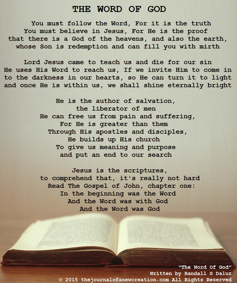 """The Word Of God"" by Randall S Daluz"